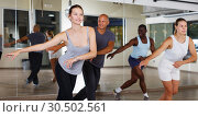 Купить «dancing people practicing vigorous swing», фото № 30502561, снято 30 июля 2018 г. (c) Яков Филимонов / Фотобанк Лори