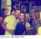 Купить «People in night club», фото № 30502797, снято 28 августа 2017 г. (c) Яков Филимонов / Фотобанк Лори