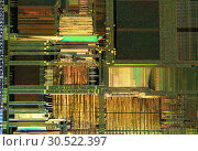 Купить «Crystal chip CPU macro shot», фото № 30522397, снято 9 апреля 2019 г. (c) Виталий Поздеев / Фотобанк Лори
