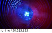 Купить «Abstract conceptual background with futuristic high tech wormhole tunnel», видеоролик № 30523893, снято 8 апреля 2009 г. (c) Куликов Константин / Фотобанк Лори