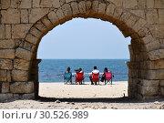 Купить «Roman aqueducts Caesarea Maritima Israel», фото № 30526989, снято 4 апреля 2019 г. (c) Знаменский Олег / Фотобанк Лори