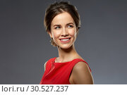 Купить «portrait of beautiful young woman in red dress», фото № 30527237, снято 20 января 2019 г. (c) Syda Productions / Фотобанк Лори