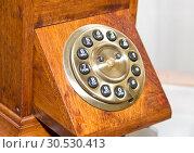 Купить «Retro wooden telephone», фото № 30530413, снято 22 апреля 2010 г. (c) Tryapitsyn Sergiy / Фотобанк Лори