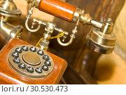 Купить «Retro wooden telephone», фото № 30530473, снято 23 апреля 2010 г. (c) Tryapitsyn Sergiy / Фотобанк Лори