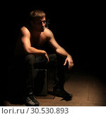 Купить «Smoker with cigarette», фото № 30530893, снято 25 октября 2009 г. (c) Tryapitsyn Sergiy / Фотобанк Лори