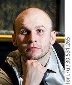 Portrait of thoughtful retro business man. Стоковое фото, фотограф Tryapitsyn Sergiy / Фотобанк Лори