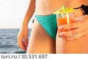 Woman with cocktail. Стоковое фото, фотограф Tryapitsyn Sergiy / Фотобанк Лори