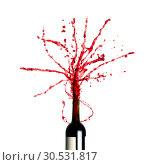 Купить «Splashing red wine», фото № 30531817, снято 29 сентября 2010 г. (c) Tryapitsyn Sergiy / Фотобанк Лори