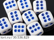 Close-up of many gambling dices. Стоковое фото, фотограф Tryapitsyn Sergiy / Фотобанк Лори