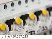Electrical fuseboxes. Стоковое фото, фотограф Tryapitsyn Sergiy / Фотобанк Лори