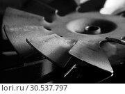 Steel blades of turbine propeller. Стоковое фото, фотограф Tryapitsyn Sergiy / Фотобанк Лори