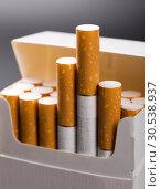 Купить «Cigarettes in pack», фото № 30538937, снято 9 августа 2012 г. (c) Tryapitsyn Sergiy / Фотобанк Лори