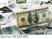 Купить «$100 dollar bills», фото № 30539965, снято 17 мая 2013 г. (c) Tryapitsyn Sergiy / Фотобанк Лори