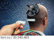 Купить «Connecting to cyborg», фото № 30540465, снято 27 августа 2013 г. (c) Tryapitsyn Sergiy / Фотобанк Лори