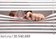 Spying. Стоковое фото, фотограф Tryapitsyn Sergiy / Фотобанк Лори