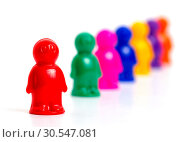 Купить «Colorful toy people standing in a queue», фото № 30547081, снято 12 ноября 2013 г. (c) Tryapitsyn Sergiy / Фотобанк Лори