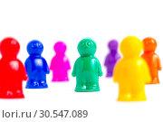 Купить «Crowd of the colorful toy people», фото № 30547089, снято 12 ноября 2013 г. (c) Tryapitsyn Sergiy / Фотобанк Лори