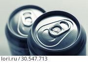 Купить «Aluminum cans closeup picture», фото № 30547713, снято 5 февраля 2014 г. (c) Tryapitsyn Sergiy / Фотобанк Лори