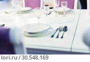 Купить «Served with a plate on the table», фото № 30548169, снято 29 мая 2014 г. (c) Tryapitsyn Sergiy / Фотобанк Лори