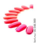 Купить «Red nail varnishes», фото № 30548989, снято 30 июля 2014 г. (c) Tryapitsyn Sergiy / Фотобанк Лори