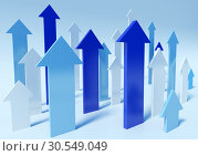 Купить «Abstract 3d upwards arrows», фото № 30549049, снято 20 февраля 2020 г. (c) Tryapitsyn Sergiy / Фотобанк Лори