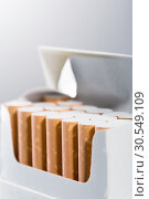 Купить «Box of cigarettes», фото № 30549109, снято 6 сентября 2014 г. (c) Tryapitsyn Sergiy / Фотобанк Лори