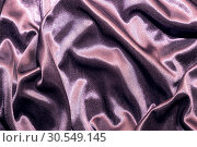 Купить «Abstract elegant silk satin purple violet background with highlights with soft fabric texture», фото № 30549145, снято 31 марта 2019 г. (c) Светлана Евграфова / Фотобанк Лори