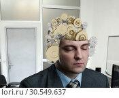 Купить «Man with bearing in his brain», фото № 30549637, снято 6 февраля 2014 г. (c) Tryapitsyn Sergiy / Фотобанк Лори