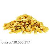 Купить «Heap of gold bars», фото № 30550317, снято 8 декабря 2019 г. (c) Tryapitsyn Sergiy / Фотобанк Лори