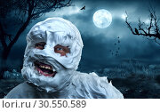 Купить «Spooky monster in the cemetery», фото № 30550589, снято 17 декабря 2014 г. (c) Tryapitsyn Sergiy / Фотобанк Лори