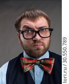 Купить «Strange nerd», фото № 30550789, снято 26 декабря 2014 г. (c) Tryapitsyn Sergiy / Фотобанк Лори