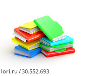 Купить «Multicolored folders», фото № 30552693, снято 5 августа 2020 г. (c) Tryapitsyn Sergiy / Фотобанк Лори