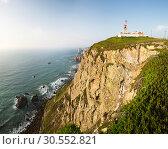 Купить «Building on the cliff near the sea», фото № 30552821, снято 24 января 2020 г. (c) Tryapitsyn Sergiy / Фотобанк Лори