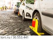 Купить «Parking violation», фото № 30553441, снято 15 июля 2015 г. (c) Tryapitsyn Sergiy / Фотобанк Лори