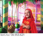 Купить «Smiling little girl in costume», фото № 30553621, снято 8 августа 2015 г. (c) Tryapitsyn Sergiy / Фотобанк Лори
