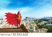 Купить «Superhero little girl», фото № 30553625, снято 19 июля 2019 г. (c) Tryapitsyn Sergiy / Фотобанк Лори