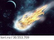 Купить «Asteroid in space», фото № 30553709, снято 29 мая 2012 г. (c) Tryapitsyn Sergiy / Фотобанк Лори