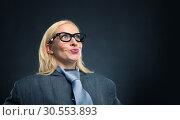 Surprised strong woman. Стоковое фото, фотограф Tryapitsyn Sergiy / Фотобанк Лори