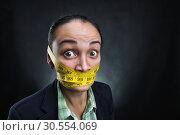 Купить «Silent woman», фото № 30554069, снято 13 октября 2015 г. (c) Tryapitsyn Sergiy / Фотобанк Лори