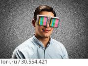 Man in retro spectacles. Стоковое фото, фотограф Tryapitsyn Sergiy / Фотобанк Лори
