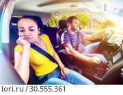 Couple travelling by car. Стоковое фото, фотограф Tryapitsyn Sergiy / Фотобанк Лори
