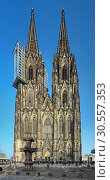 Купить «Западный фасад Кёльнского собора, Германия», фото № 30557353, снято 14 марта 2012 г. (c) Михаил Марковский / Фотобанк Лори