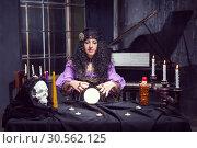 Sorceress in her room. Стоковое фото, фотограф Tryapitsyn Sergiy / Фотобанк Лори
