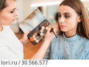 Купить «Professional beautician work with woman face», фото № 30566577, снято 15 мая 2017 г. (c) Tryapitsyn Sergiy / Фотобанк Лори