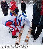 Купить «На многоместных лыжах по парку. Зимние забавы моржей в Заводоуковске», эксклюзивное фото № 30577637, снято 3 марта 2019 г. (c) Анатолий Матвейчук / Фотобанк Лори