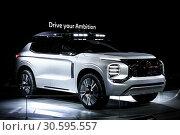 Купить «Mitsubishi Engelberg Tourer», фото № 30595557, снято 10 марта 2019 г. (c) Art Konovalov / Фотобанк Лори
