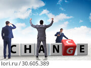 Купить «Businessman taking chance for change», фото № 30605389, снято 13 декабря 2019 г. (c) Elnur / Фотобанк Лори