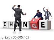 Купить «Businessman in change and chance concept», фото № 30605405, снято 13 декабря 2019 г. (c) Elnur / Фотобанк Лори