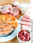 Купить «Ingredients for protein diet», фото № 30610297, снято 3 августа 2013 г. (c) easy Fotostock / Фотобанк Лори