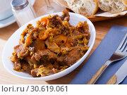 Купить «Braised cabbage with pork», фото № 30619061, снято 17 июля 2019 г. (c) Яков Филимонов / Фотобанк Лори
